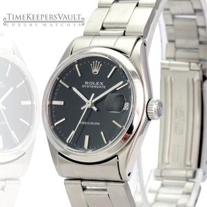 Rolex Oysterdate Stainless Steel Black Dial